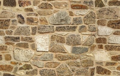 Wall mural seamless ashlar old stone wall texture background