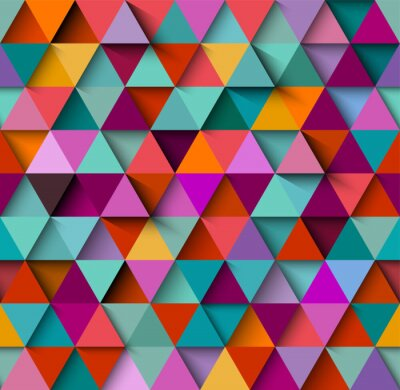 Wall mural Seamless background pattern with triangles and shadows, eps10 vector