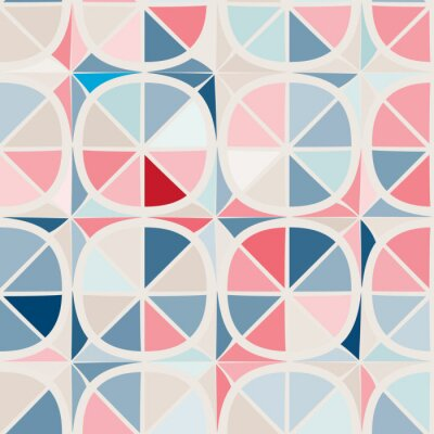 Wall mural seamless background with abstract geometric shapes