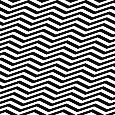 Wall mural Seamless black white chevron pattern