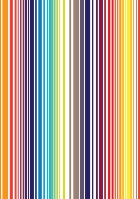 Wall mural Seamless bright full color stripe pattern. Vector illustration f