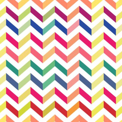 Wall mural Seamless Colorful Chevron Pattern. Vector