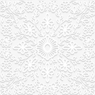 Wall mural Seamless floral pattern in traditional style