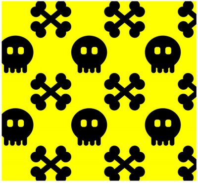 Wall mural Seamless from skull.(can be repeated and scaled in any size) Pat