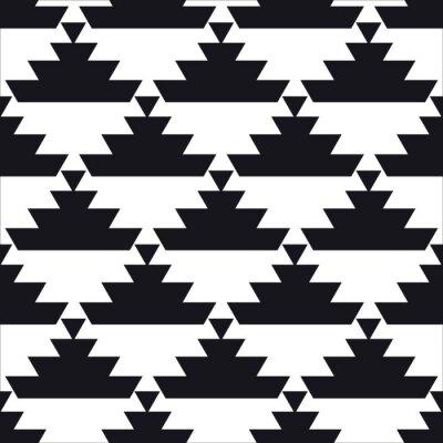 Wall mural seamless geometric pattern