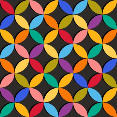 Wall mural Seamless geometric pattern with colorful elements
