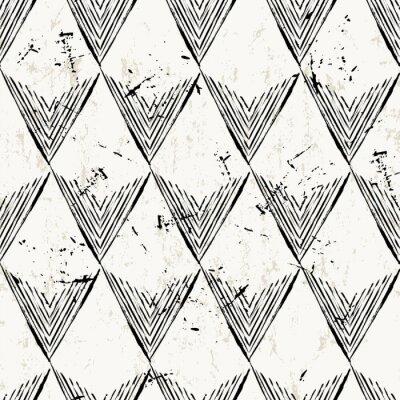 Wall mural seamless pattern background, with triangles, strokes and splashe