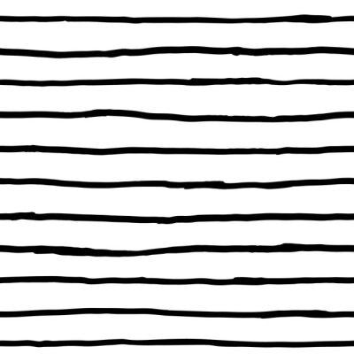 Wall mural Seamless pattern - ink horizontal lines
