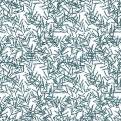 Wall mural Seamless pattern with fir branches. Vector illustration