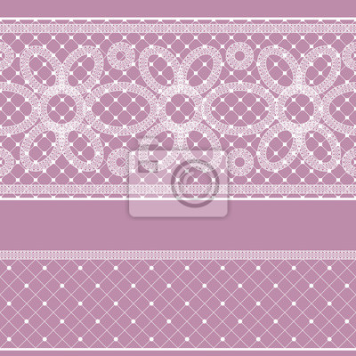 Wall mural Seamless pattern with lace for design