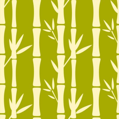 Wall mural Seamless pattern with silhouettes bamboo trees