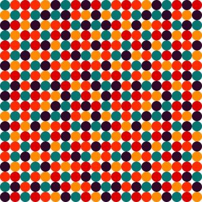 Wall mural Seamless polka dot vector pattern