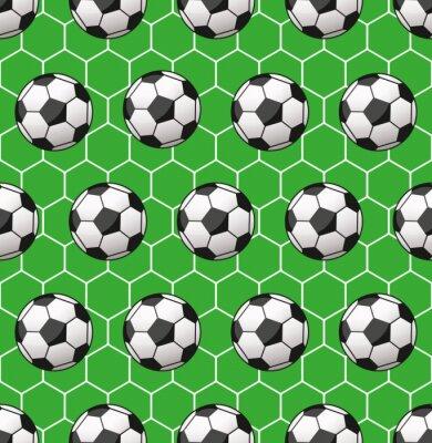 Wall mural seamless soccer pattern