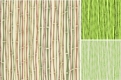 Wall mural seamless texture with bamboo stalks