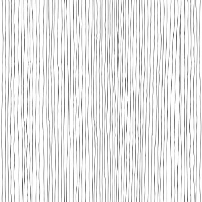 Wall mural Seamless vertical lines hand-drawn pattern