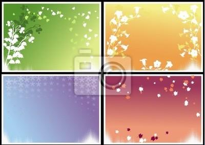Seasonal frames (vector)