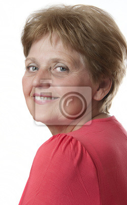 senior woman - sixty years old on white background