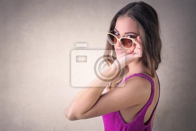 Sensual woman posing