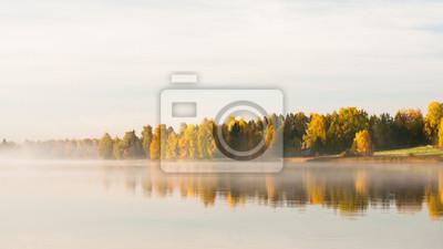 Serene autumn waterscape