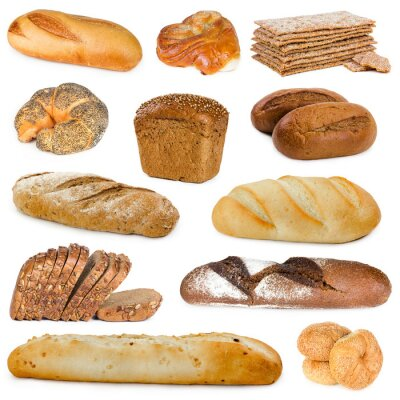 Set of bread and buns
