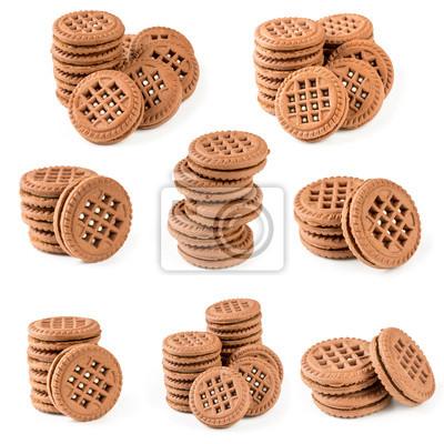 Set of chocolate cookies