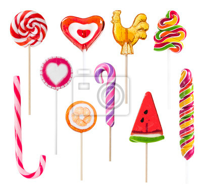 Wall mural Set of colorful lollipops