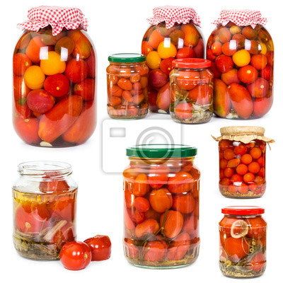 Set of pickled tomatoes