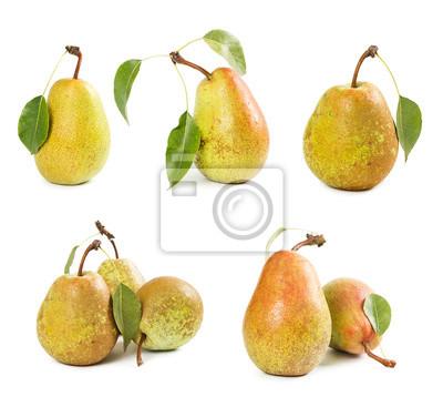 Set of ripe pears