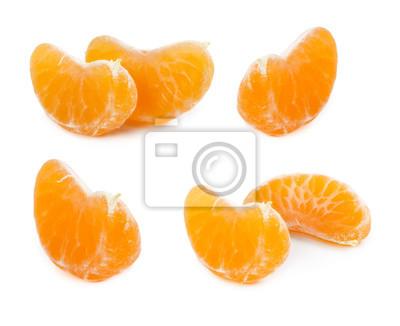Set of slices of mandarin
