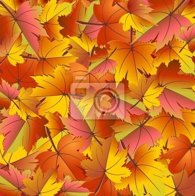 Sfondo Foglie d'Autunno-Autumn Leaves Background-Vector