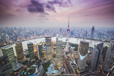 Wall mural Shanghai, China Aerial View