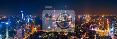 Shanghai Pudong aerial night view