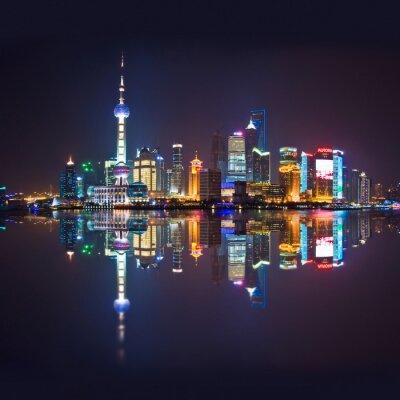 Wall mural Shanghai skyline, carré