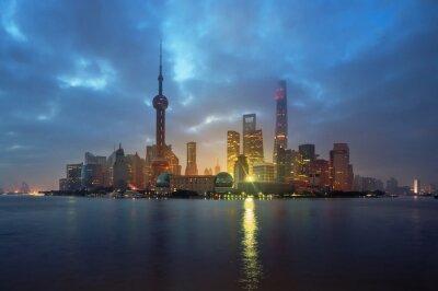 Shanghai skyline in sunrise time, China