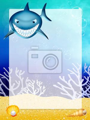 shark with frame