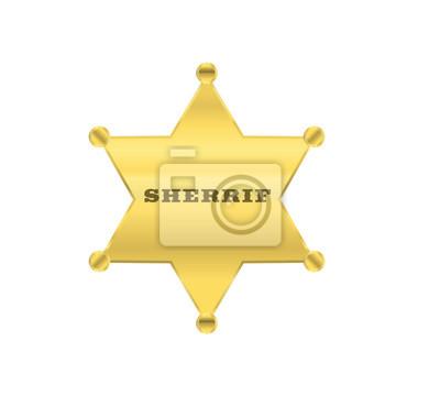 sherrif golden star vector design