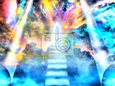 Shining spirit on a stairway to Heaven