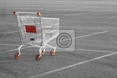 Wall mural Shopping cart
