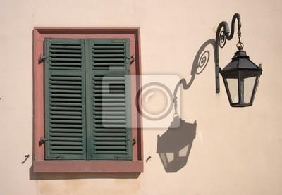 Wall mural shutters
