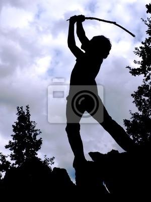 Silhouette - golf