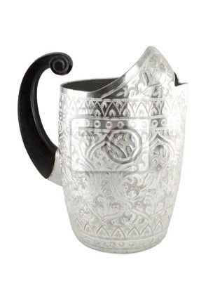 Wall mural silver jug with ancient Thai texture