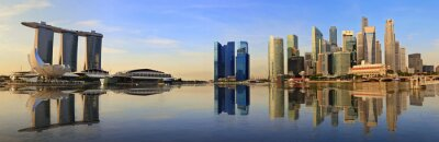 Wall mural Singapore panorama skyline in the morning
