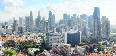 Wall mural Singapore skyline