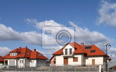 Single family housing development. Residential area .