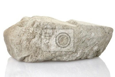 Wall mural single rock stone with clipping path