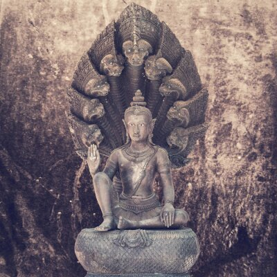 Wall mural Sitting buddha statue