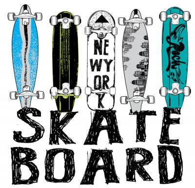 Wall mural Skate board typography, t-shirt graphics