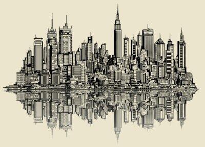 Wall mural sketch of new york