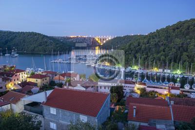 Skradin, a charming port town on the Krka River near the Krka Park.