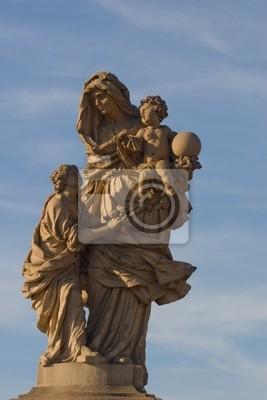 Skulptur Karlsbrücke in Prag
